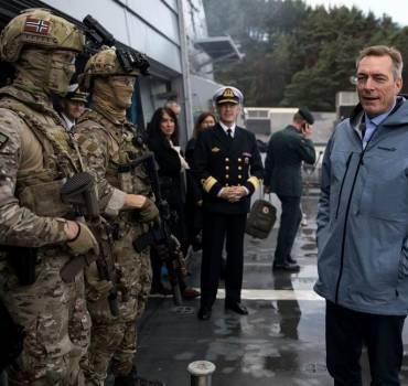 Norges forsvarsminister på officielt besøg i Danmark