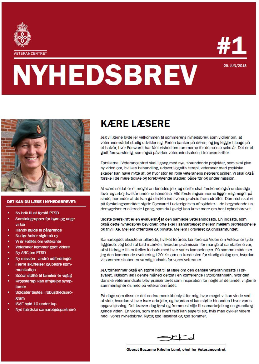 Nyhedsbrev – Veterancentret