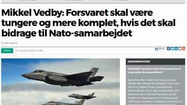 Dansk forsvar skal tilbage til før K-notatet